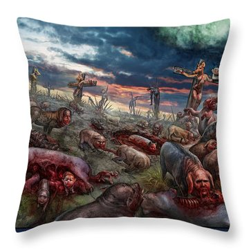 The Sacrifice Throw Pillow by Tony Koehl