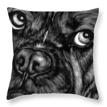 The Sad Boxer Throw Pillow by Enzie Shahmiri