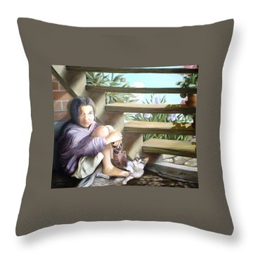 The Sad Child - L'enfant Triste Throw Pillow