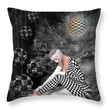 The Sad Pierrot Throw Pillow