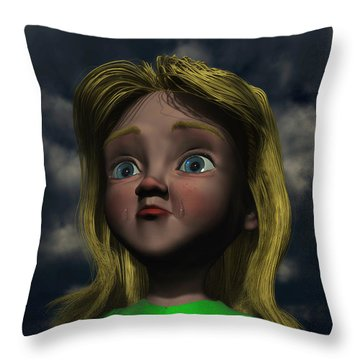 The Saddening Star Throw Pillow