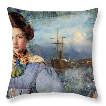 The Sailor And The Maiden Throw Pillow