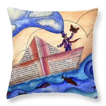 The Sailor Dreamer Throw Pillow