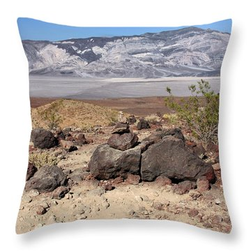 The Salt Flats Of Death Valley Throw Pillow by Christine Till