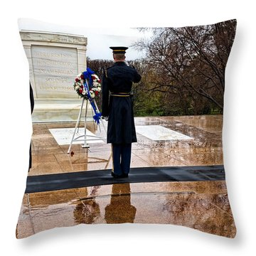 The Salute Throw Pillow by Christopher Holmes