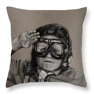 The Salute Throw Pillow by Jean Cormier