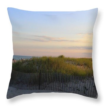 The Sand Dunes Of Long Island Throw Pillow