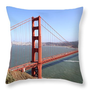 The San Francisco Golden Gate Bridge 7d14507 Throw Pillow