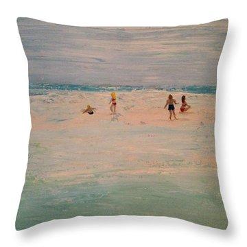 The Sandbar Throw Pillow