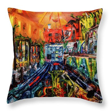 The Sangria Jug Throw Pillow