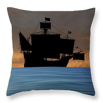 The Santa Maria 1460 V3 Throw Pillow