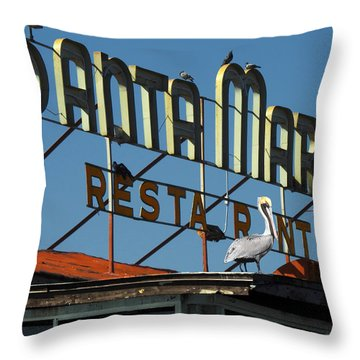 Throw Pillow featuring the photograph The Santa Maria by Rod Seel