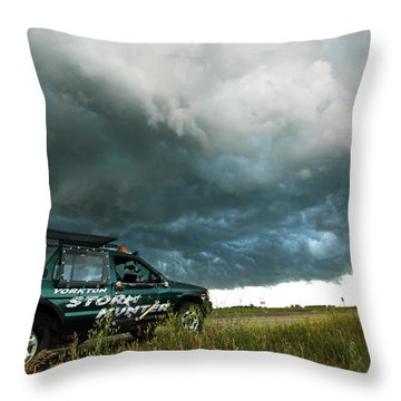 The Saskatchewan Whale's Mouth Throw Pillow