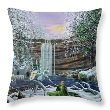 The Saving Of Guinevere Throw Pillow
