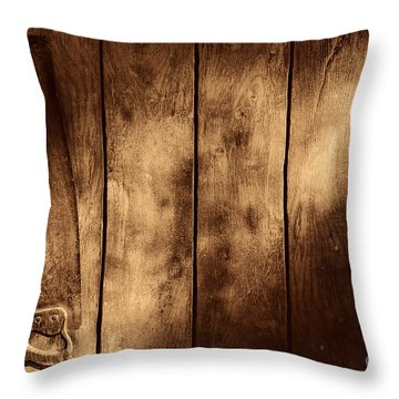 The Saw Throw Pillow by American West Legend By Olivier Le Queinec