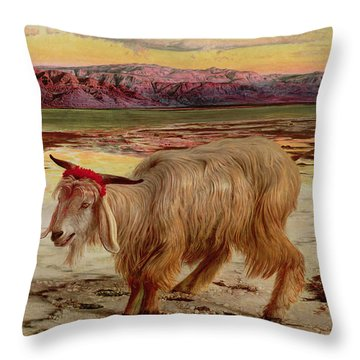 The Scapegoat Throw Pillow by William Holman Hunt