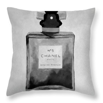 The Scent Black And White Throw Pillow