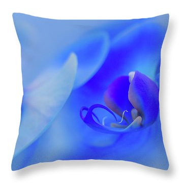 The Scent Of Blue Mystique Throw Pillow