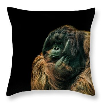 The Sceptic Throw Pillow by Paul Neville