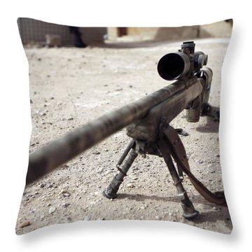 The Schmidt & Bender M-854155 Ds Scout Throw Pillow by Stocktrek Images