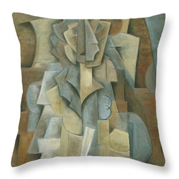 The Scholar Throw Pillow by Trish Toro