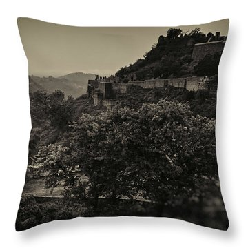 The School Next To The Fort Throw Pillow by Rajiv Chopra