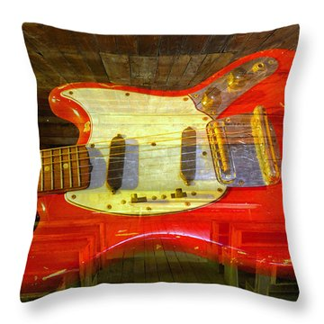Throw Pillow featuring the photograph The School Of Rock by David Lee Thompson