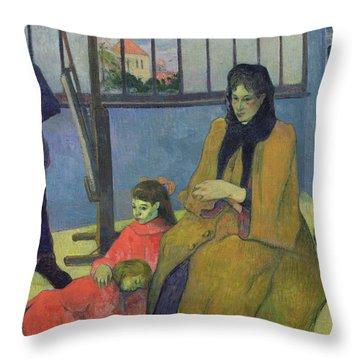The Schuffenecker Family Throw Pillow by Paul Gauguin