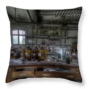 Throw Pillow featuring the digital art The Science  by Nathan Wright