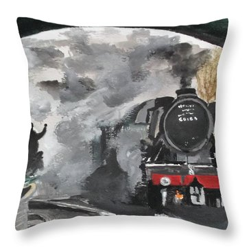 The Scotsman Throw Pillow by Carole Robins