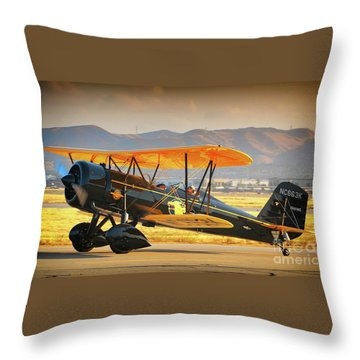 The Scott Familys 1929 Stearman  Version 2 Throw Pillow