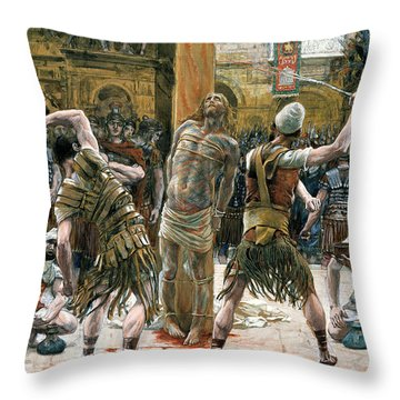 The Scourging Throw Pillow by Tissot