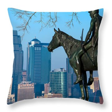 The Scout Statue Throw Pillow