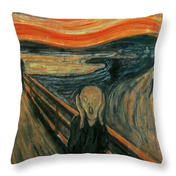 The Scream  Throw Pillow by Edward Munch