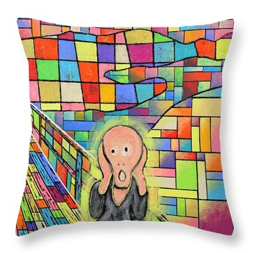 The Scream Jeremy Style Throw Pillow