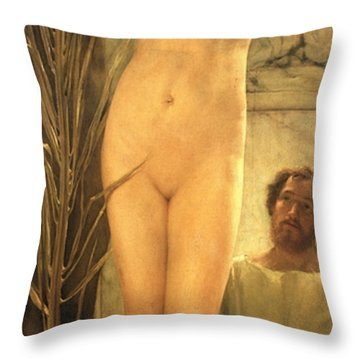 The Sculptor's Model Throw Pillow