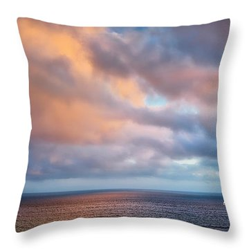 The Sea At Peace Throw Pillow
