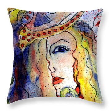 The Sea Becomes Her Throw Pillow by Robin Monroe