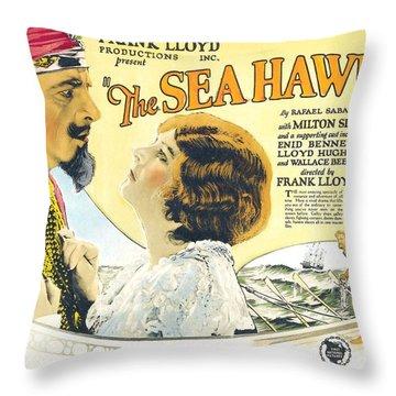 The Sea Hawk 1924 Throw Pillow