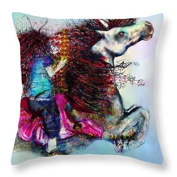The Sea Horse Fairy Throw Pillow