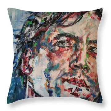 The Sea Inside Your Eyes Throw Pillow