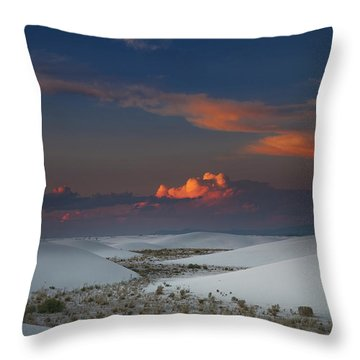 The Sea Of Sands Throw Pillow