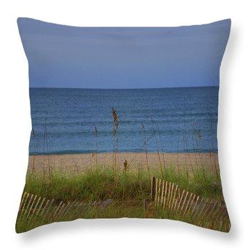 The Sea Shore Line Throw Pillow