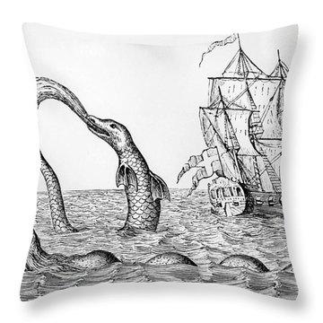 The Sea Serpent Throw Pillow