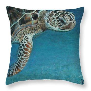 The Giant Sea Turtle Throw Pillow