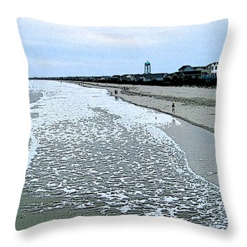 Throw Pillow featuring the photograph The Seacoast by Skyler Tipton