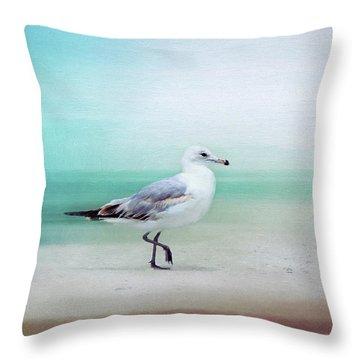 The Seagull Strut Throw Pillow