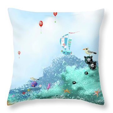 The Seagull's Cup..the Oldest Trophy In The Seafaring Calendar Throw Pillow