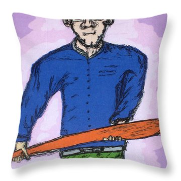 The Seal Clubber Throw Pillow by Robert Margetts