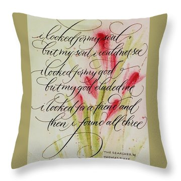 The Searcher By Thomas Blake Throw Pillow